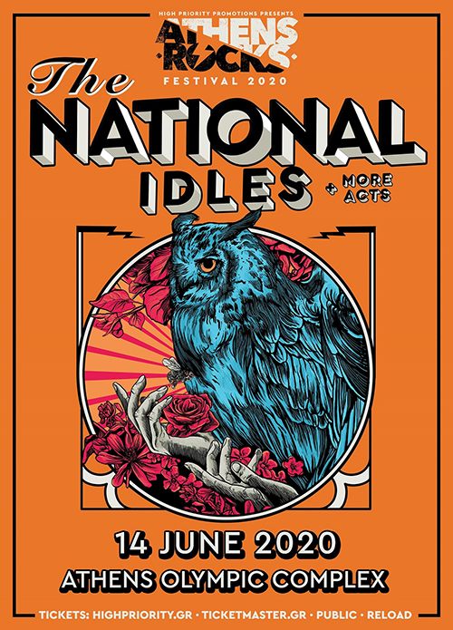 Athens Rock 2020 The National Idles Poster1